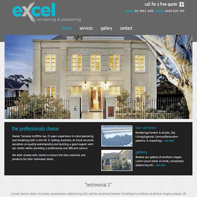 Excel Rendering and Plastering